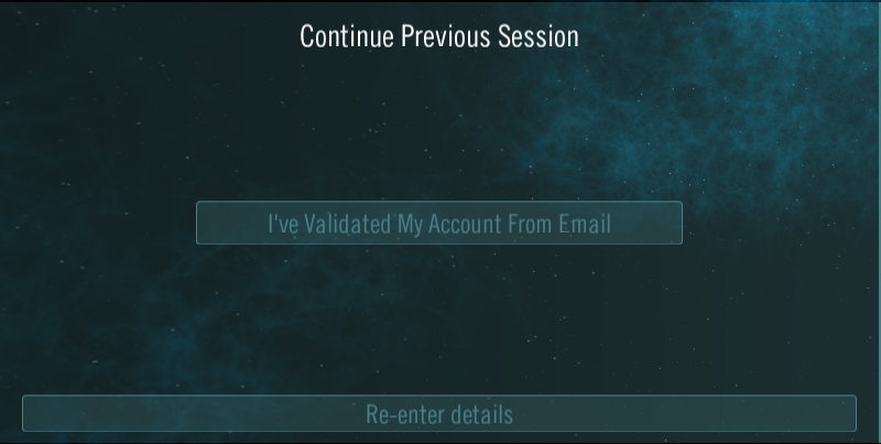 E-mail validation message