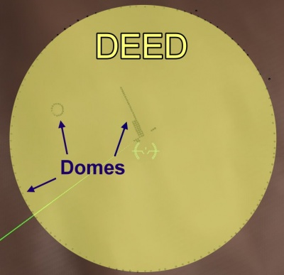Deed with domes - details